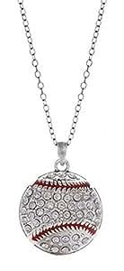 Baseball - Crystal Necklace