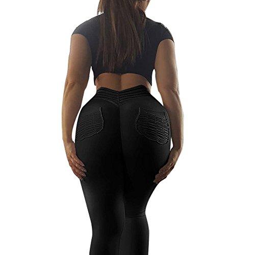 Palestra Yoga Pure Sport Pantaloni Leggings Nero Amlaiworld Donna Colore Running Fitness pYWSgq
