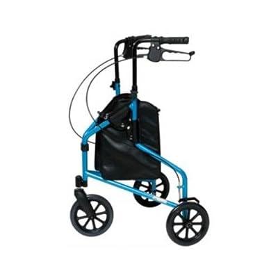 Lumiscope Lumex 609201B Rollator 3-wheel Walker - 250.00 lb Load Capacity - Light-weight, Adjustable Height