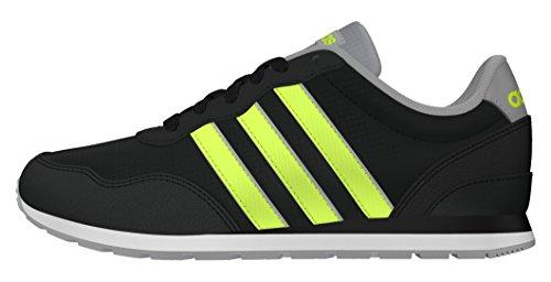 adidas V Jog K, Zapatillas de Deporte Para Niños Negro (Negbas / Amasol / Onicla)