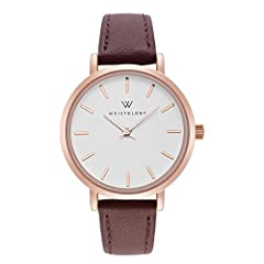 The Charlotte womens watch from WRISTOLOGY may be petite, but she gets noticed! She features a simple, modern face with just the right amount of feminine details, a slim case in gorgeous rose gold and a versatile interchangeable brown leather...