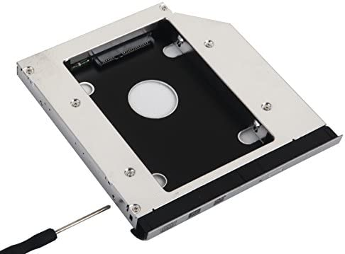 2nd HDD SSD Hard Drive Optical Bay Frame Caddy Adapter for Dell Latitude E5520 E5420 with Bezel Front Cover Mounting Bracket