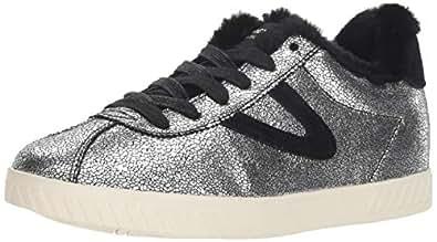 TRETORN Women's CALLIE4 Sneaker, Silver, 4 M US