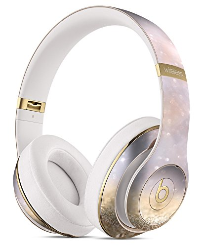 Unfocused Glowing Lights with Gold DesignSkinz Full-Body Skin Kit for the Beats by Dre Studio Remastered Wireless Headphones / Ultra-Thin / Matte Finished / Protective Skin Wrap