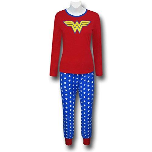 DC Comics Wonder Woman PJ Set w/ cuffed bottoms (Small)