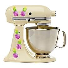Funky Purple Pineapples Tropical Kitchenaid Decal Kit Mixer Machine Art Wrap