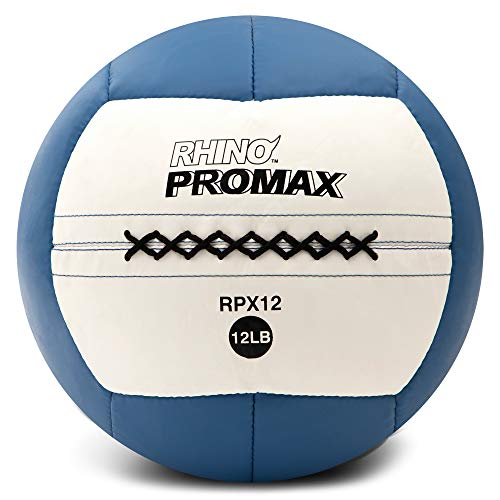 Champion Sports Rhino Promax Slam Balls, 12 lb, Soft Shell with Non-Slip Grip - Medicine Wall Ball for Slamming, Bouncing, Throwing - Exercise Ball Set for Crossfit, Plyometrics, Cross Training