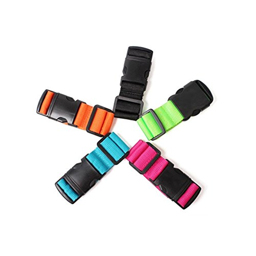 Pack of 2 Add-A-Bag Luggage Strap, Adjustable Suitcase Straps Belt Travel Accessories