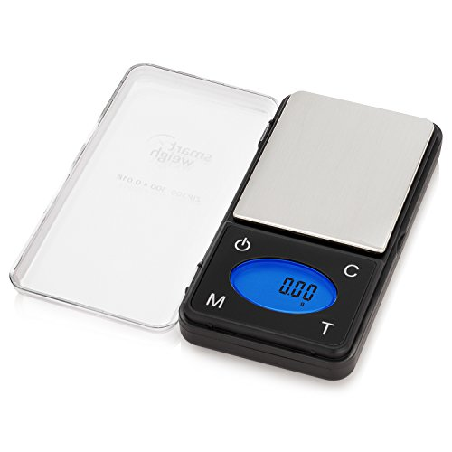 Smart Weigh ZIP300 Ultra Slim Digital Pocket Scale with Counting Feature, 300 by 0.01g (Coin Silver Gold)