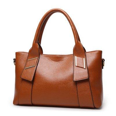 mefly New Fashion Lady Bag Europa y América Big Bag Fácil cubierta de hombro, Claret marrón
