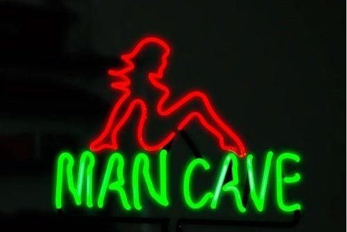 Urby™ 17''x14'' Man Cave Nude Bar Girl Custom Handmade Glass Tube Neon Light Sign 3-Year Warranty-Unique Artwork! U309