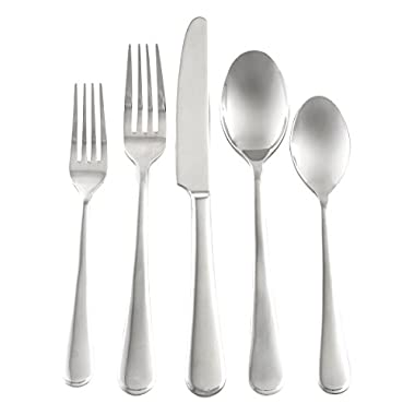 Cambridge Silversmiths London Mirror 20-Piece Flatware Set, Stainless Steel