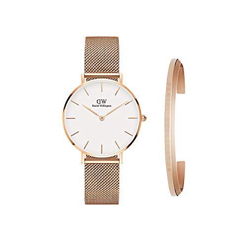 Daniel Wellington Gift Set, Petite Melrose 32mm Watch with Classic Bracelet