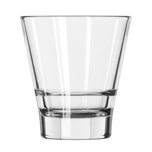 Libbey Glassware 15710 Endeavor Rocks Duratuff Glass, 9 oz. (Pack of 12)