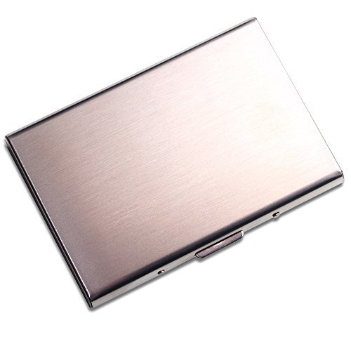 Stainless Steel Credit Card Holder, Best Slim Travel Metal Wallet for Men and Women, Fits up to 6 cards, Protects Against Cyber Fraud with its RFID Technology - A Splendid Gift