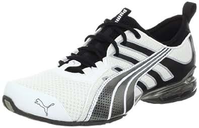 PUMA Men's Voltaic 4 Fade Running Shoe, White/Black/Dark Shadow, 9 D US