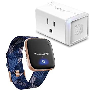 Fitbit Versa 2 Special Edition Health & Fitness Smartwatch (Alexa Built-in) Bundle with TP-Link HS105 Smart Plug