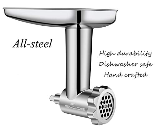 Food Grinder Attachment work with KitchenAid Stand Mixers Including Sausage Stuffer, All Stainless Steel,Dishwasher Safe, Durable Mixer Accessories as Meat Processor by GVODE (Image #4)