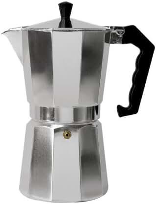 Primula Aluminum Espresso Maker - Aluminum - For Bold, Full Body Espresso – Easy to Use – Makes 9 Cups