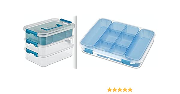 Amazoncom Sterilite Stack And Carry Tray Organizer 10 58 Inch