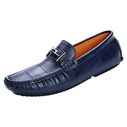 Barca On Blu Uomo Mocassini da PU Anguang Scarpe Slip Pelle Loafers Classico Affari SPqnwY7xT
