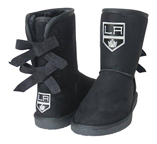NHL Los Angeles Kings Boys Fan Boot, Size 8, Black by Cuce Shoes