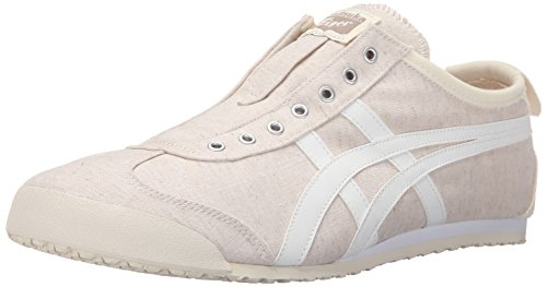 Onitsuka Tiger Men's Mexico 66 Slip-On Fashion Sneaker, Off White/White,