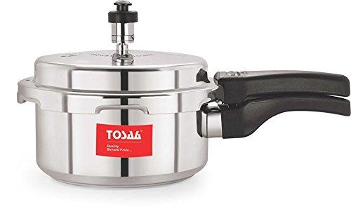 Tosaa Ultra Delux Aluminium Pressure Cooker, 2 Litres, Silver