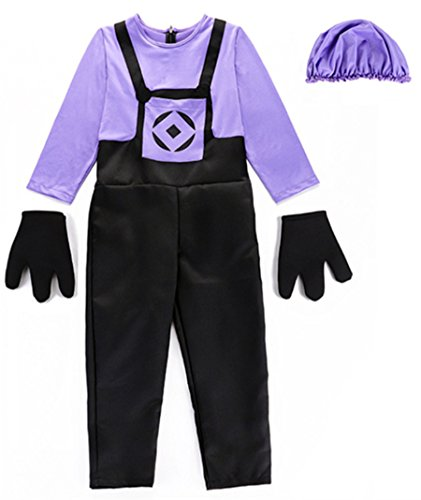 Honeystore Child Fancy Dress Jumpsuit Halloween Party Costume Set Romper Cosplay L