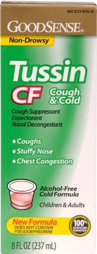 Good Sense Tussin Pe Cf Cough & Cold New Formula Case Pack 24