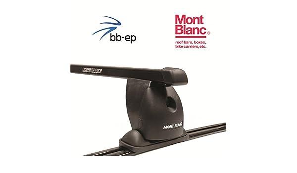 Mont Blanc Premium Acero Baca/Last portaequipajes para Seat Toledo 4 puertas Sedan con Fix puntos en el techo a partir de año 1999 hasta 2000 - Sistema de ...