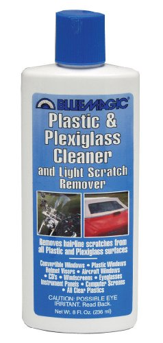 Blue Magic 750 Plastic & Plexiglass Cleaner - 8 fl. - Remove Scratches Plastic Clear