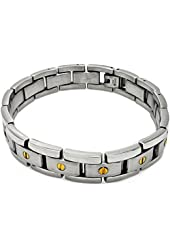 Stainless Steel Gold Plated Center Screw Bracelet