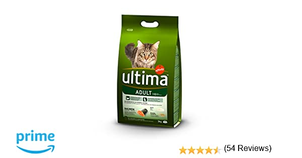 Ultima Pienso para Gatos Adulto con Salmón: Amazon.es: Productos ...