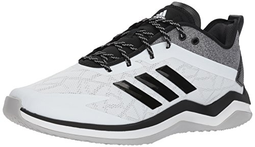 (adidas Men's Speed Trainer 4 Running Shoe, Black, 8 Wide US)