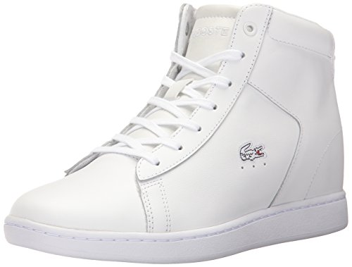 Lacoste Women's Carnaby Evo Wedge 317 3 Fashion Sneaker, White, 6.5 M US