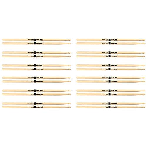 Promark American Hickory TX747W Rock Wood Tip Drum Stick (12 Pair - Rock American Hickory Promark