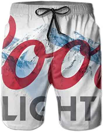 979a5d94b9 Coo-rs Light Men's Swim Trunks Quick Dry Board Shorts Drawstring Elastic  Waist Swimwear Bathing