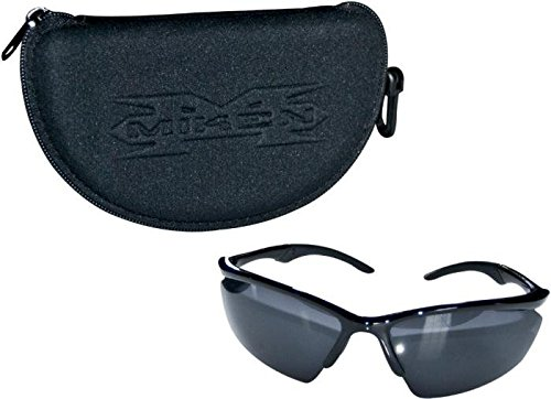Miken Multi-Lens Sunglasses w/Embossed Case (Grey/Yellow/Blue) - Embossed Sunglasses