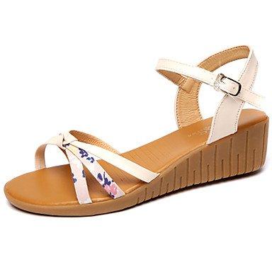 1 Sandals Yellow Summer Comfort Casual 3 CN36 RTRY Heel Beige Walking EU36 UK4 Pu US6 4In Low Women'S 1In Comfort O5wqp