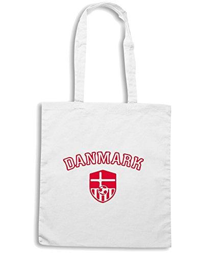 T-Shirtshock - Bolsa para la compra WC1030 Danmark Maglietta Blanco