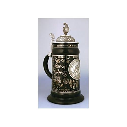 Image of 0.75 Liter US Marine Corps Ceramic Beer Stein by Oktoberfest Haus Beer Mugs & Steins