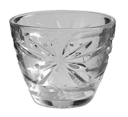 (Anchor Hocking Prescut Clear Glass ( Sugar Bowl / No Lid)