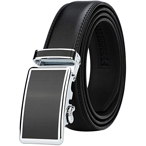 Lavemi Men's Real Leather Ratchet Dress Belt with Automatic Buckle,Elegant Gift Box(36-22058 Black...