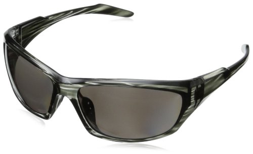 Greg Norman G4608 Polarized Sport Soft Rectangle Melanin Sunglasses,Grey & Black, 68 mm by Greg Norman