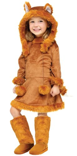 Fun World Sweet Fox Costume, Medium 8-10, Brown ()