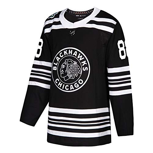 Jersey Authentic (adidas Men's Chicago Blackhawks Patrick Kane Black 2019 Winter Classic Authentic Player Jersey (54))
