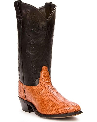 Old West Men's Lizard Printed Cowboy Boot Cognac 12 EE US