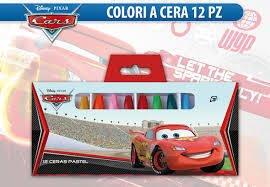 Disney Pixar Cars - Motori ruggenti Confezione di colori a cera, 12 pastelli