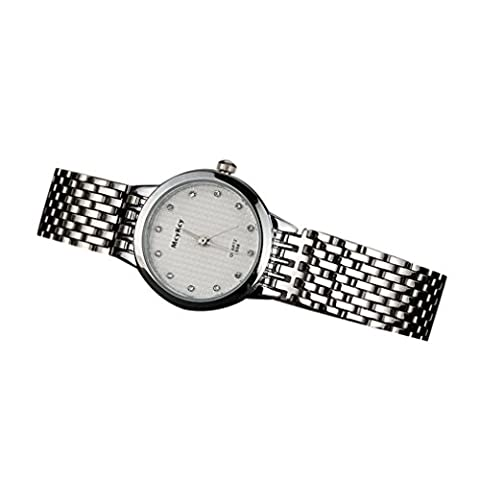 Howstar Wrist Watch Nice Present For Friends,Casual And Fashion Men Simple Stainless Steel Analog Quartz Wrist Watch (30mm Watch Face Protector)